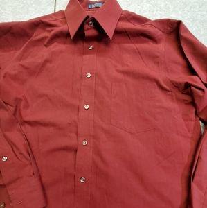 🤴👔 Stafford Cranberry Men's Dress shirt